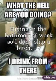 Shower Spider Meme - hiding in the bathroom at work meme image bathroom 2017