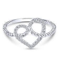 white gold ladies bracelet images Gabriel 14k white gold eternal love fashion ladies ring first jpg
