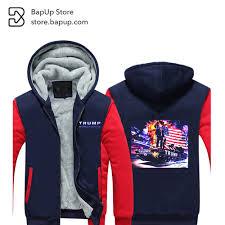 American Flag Hoodies For Men Bapup 2017 New Men Winter Republican Us President Elect Tank