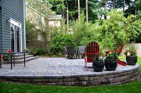 Sloped Backyard Ideas Sloped Backyard Ideas Patio Traditional With Hardscape