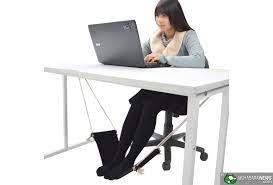 Under The Desk Foot Rest by Thanko Hammock Foot Rest Akihabaranews