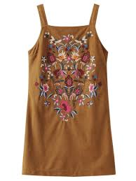 faux suede embroidered mini dress brown mini dresses s zaful