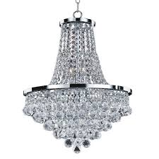 Glow Lighting Chandeliers Glow Lighting Vista 8 Light Faceted And Chrome