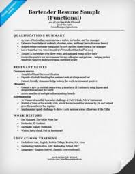 resume for a bartender how to write a resume resume companion
