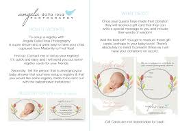 gift registry cards angela dalla rosa photography perth newborn family portrait