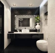 Best White Modern Bathrooms Images On Pinterest Modern - Black bathroom design ideas