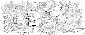 smash brothers coloring pages coloring home