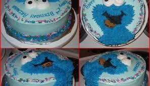 elmo u0026 cookie monster birthday cake cakecentral com