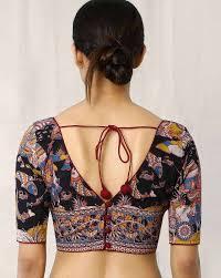 open blouse buy multicoloured picks kalamkari print back open blouse