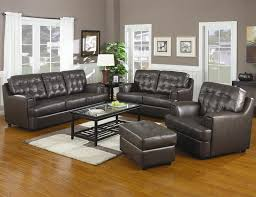 Grey Leather Sofa And Loveseat Chocolate Leather Sofa Loveseat Set By Coaster 502681 S