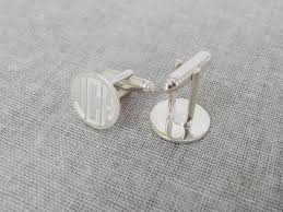 personalized wedding cufflinks custom silver monogram wedding cufflinks with any initials made to