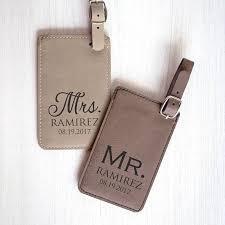 wedding luggage tags pair 2 personalized mr mrs luggage tags custom wedding