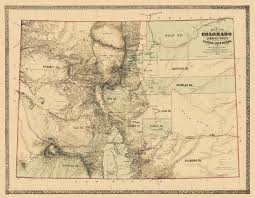 Colorado Mountain Map by Old State Map Colorado Territory Gold Region 1862