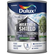 dulux weathershield multisurface paint pure brilliant white 750ml