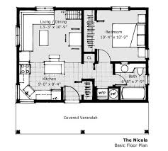 Cottage Floor Plans One Story 560 Ft 20 X 28 House Plan Small Home Plans Pinterest