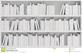 bookcase with white books royalty free stock photography image
