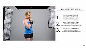 a 3 light setup for fitness photography