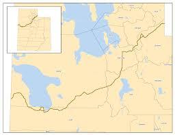 Utah Maps by Pony Express Trail Through Utah U2022 Mapsof Net
