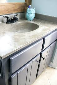 undermount sink concrete countertop how to make a concrete sink for bathroom you can update your