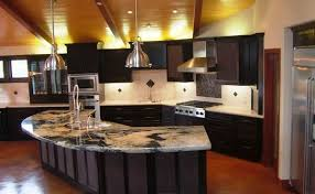 Kitchen Counter Island Modern Kitchen Counter Design Black Color Metal Handles Built In