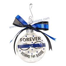 officer ornament thin blue line ornament