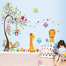 wall stickers for toddlers room awesome innovative home design jungle animals giraffe lion monkey elephant wall stickers kid room