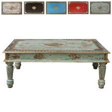 Wohnzimmertisch Mit Hocker Wohnzimmertisch Holz Couchtisch Holztisch Tisch Shabby Vintage