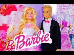 barbie doll u0026 ken wedding play doh wedding cake toy
