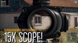 pubg zoom scope x15 scope best of pubg funny highlight stream youtube