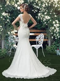 bateau lace trumpet mermaid court train wedding dress tbdress com