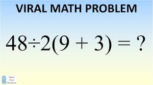 Math Problem Meme - math problem stumping the internet what is 48齋2 9 3 the