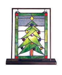 mini glass christmas tree christmas lights decoration