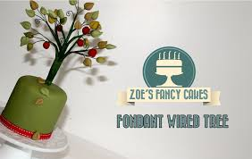 how to make a fondant wired tree cake decorating how to tutorial