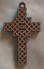 carved wooden crosses create custom celtic knot designs and patterns for crafts