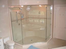Angled Glass Shower Doors Frameless Shower Enclosures