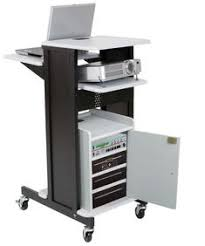 multimedia cart with locking cabinet safco multimedia projector cart black presentation carts