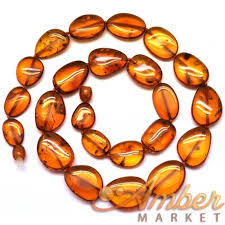 natural amber necklace images Big beads cognac baltic amber necklace JPG
