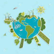 Global Wind Map Eco Global Green Planet Earth Trees Continents Wind Turbines