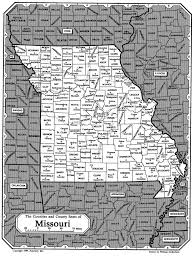 Map Of Missouri Counties Missouri Trails To The Past