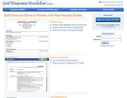 Resume Online by Great Websites To Help You Make A Resume Blueblots Com