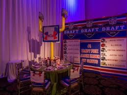 football centerpieces football bar mitzvah calls for a touchdown celebration x quisite