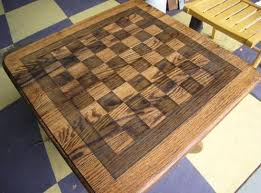 Outdoor Checker Table Made From Chess Checkerboard Table Doityourself