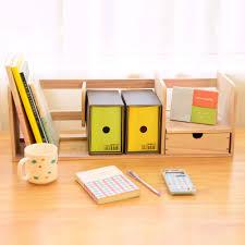 Home Office Desk Organizer Wood Desk Book Holder Book Shelf Diy Home Office Desktop Book