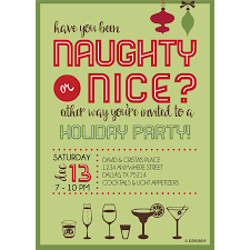 naughty or nice holiday party invitation kateogroup