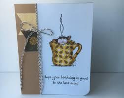 coffee birthday card etsy