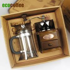 free shipping coffee accessories gift box coffee grinder