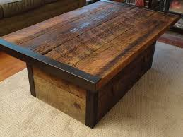 industrial coffee table with usable trunk chest base mt hood