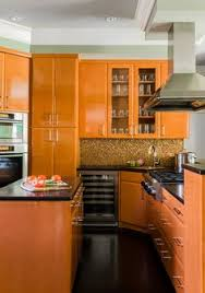 Orange Kitchen Cabinets Kitchen Cabinet Ideas Orange Cabinets Orange Paint Colors And