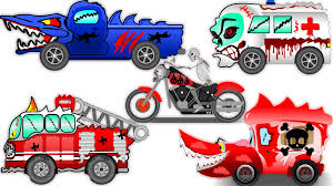 videos of monster trucks for kids scary street vehicle halloween special haunted house monster