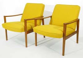 Danish Teak Armchair Danish Teak Lounge Chairs Red Modern Furniture